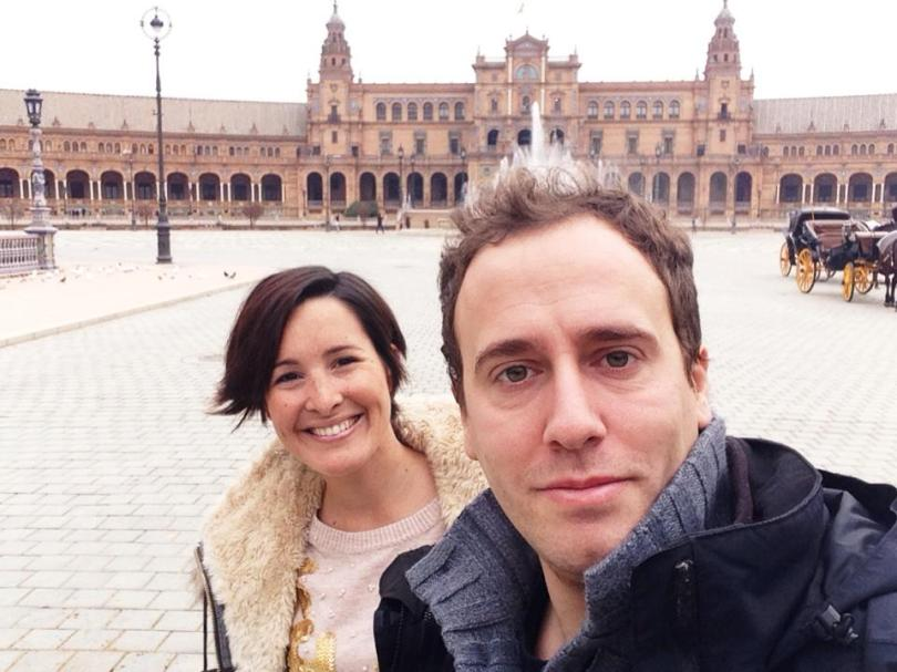 The 2 on the road in Sevilla