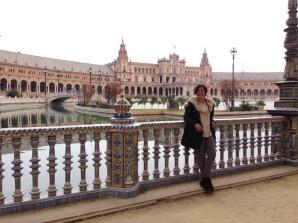 Ana in Plaza de España
