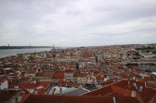 Vistas desde el Castillo de San Jorge, Lisboa